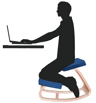 A Illustration Image of a Kneeling Chair for How to Sit in a Kneeling Chair