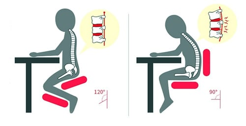 An Image of How to Sit in a Kneeling Chair: Posture Position