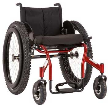 A Black Brown Variants Image of Top End Crossfire All Terrain Wheelchair