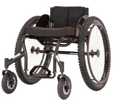 A Full Black Variants Image of Top End Crossfire All Terrain Wheelchair