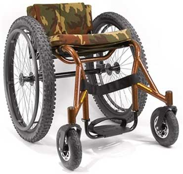 A Left View Image of Invacare Top End Crossfire All Terrain Wheelchair