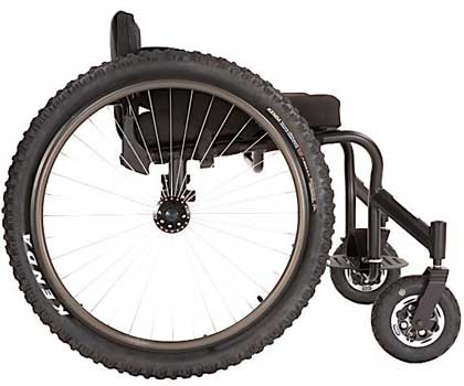 A Rear Wheel Image of Invacare Top End Crossfire All Terrain Wheelchair