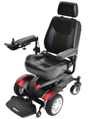 A side image of Drive Medical Titan Power Wheelchair Review
