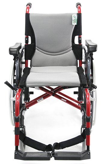 Karman S-305 wheelchair with red frame facing front