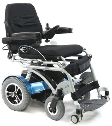 A side image of Karman XO-202 Electric Standing Wheelchair