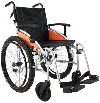Excel Wheelchairs Review Excel G-Explorer All-Terrain Wheelchair Right View - Chair Institute