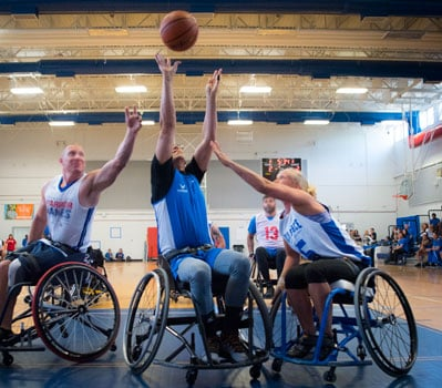 An Image of Outdoor Activities for Wheelchair Users: Team Sports