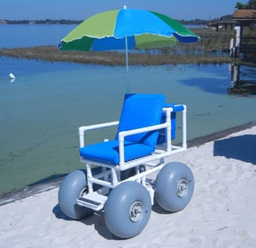 Rolleez All Terrain Beach Wheelchair Side View - Chair Institute