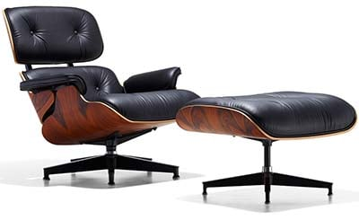 Eames Lounge Chair & Ottoman Finished In Oiled Santos Palisander Veneer
