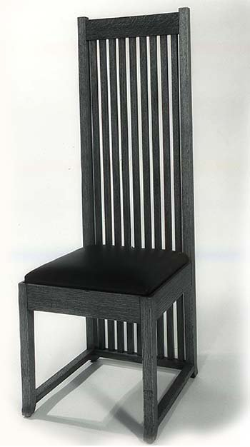The Robie Chair by Frank Lloyd Wright, a dining room side chair designed for Frederick C. Robie house