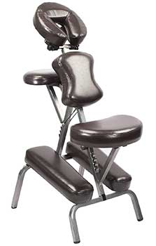 An image of the Master Massage Bedford Chair with brown upholstery