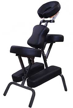 An image of the Noooshi Portable Chair with black upholstery