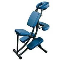 A small image of the Oakworks Portal Pro 3 in blue upholstery, our top pick for the second pick for the best portable massage chair