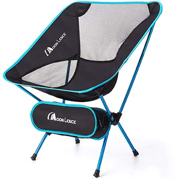 Light Blue Variant of the Moon Lence Ultralight Folding Camping Chairs with Carry Bag