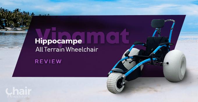 The Vipamat Hippocampe All Terrain Wheelchair in the beach