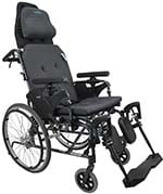 Karman MVP-502 Lightweight Ergonomic Reclining Wheelchair facing right