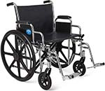 Medline Excel Extra-Wide Wheelchair facing right