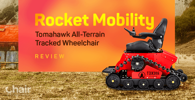 Side view of the Rocket Mobility Tomahawk in an outdoor setting