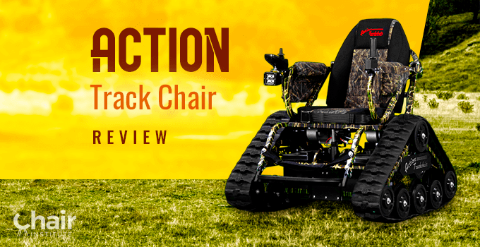 Camo Color Action Trackchair in a grassy outdoor setting