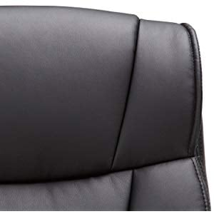 Bonded Leather Upholstery Image of AmazonBasics Mid Back Office Chair