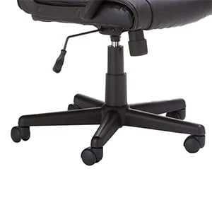 Dual-Wheel Casters Image of AmazonBasics Mid Back Office Chair