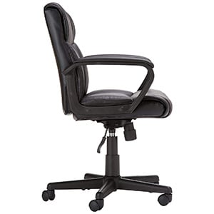 Side Image View of AmazonBasics Mid Back Office Chair