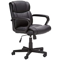 Best Office Chair for Short Person Leather/ Fabric Upholstery Category: AmazonBasics Mid Back