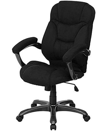 Right View of Flash Furniture Microfiber High Backed Chair