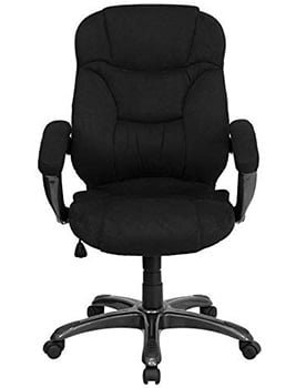 Front View of Flash Furniture Microfiber High Backed Chair