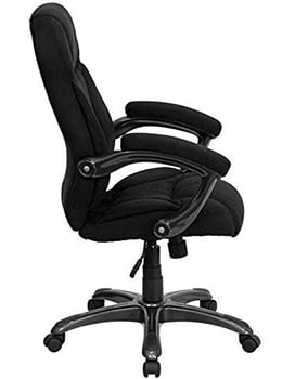 Side View of Flash Furniture Microfiber High Backed Chair