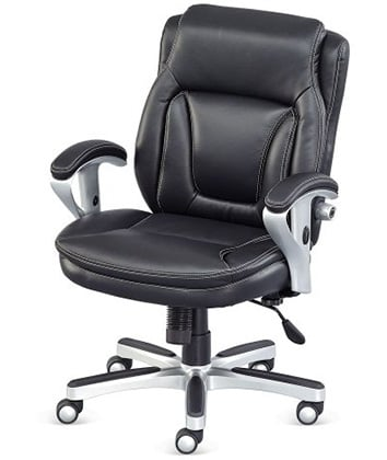 Right View of NBF Petite Faux Leather Office Chair