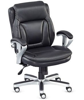 Left View of NBF Petite Faux Leather Office Chair
