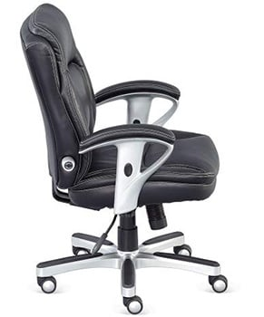 Side View of NBF Petite Faux Leather Office Chair