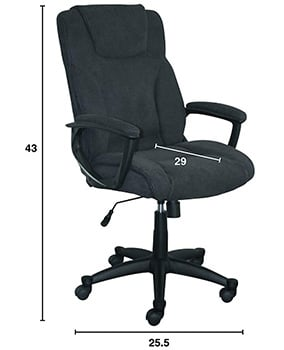 Specification View of Serta Hannah II Office Chair
