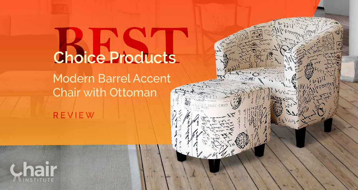 Fantastic Best Choice Products Modern Barrel Accent Chair Ottoman Ibusinesslaw Wood Chair Design Ideas Ibusinesslaworg