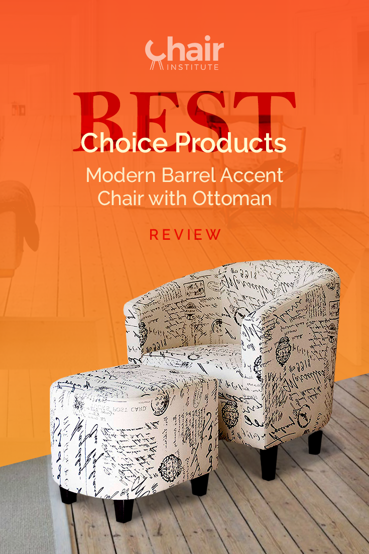 The Best Choice Products Modern Accent Chair with Ottoman is certainly an eye-catcher, but does this chair back up its looks with a comfortable feel? Find out in our full review! @BCProducts