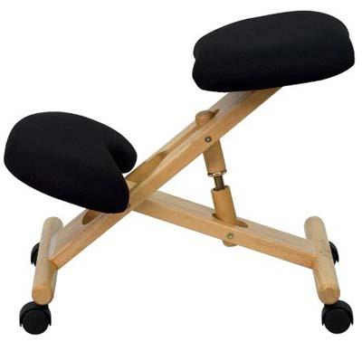 Black Flash Furniture Ergonomic Kneeling Chair