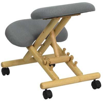 Back vie of Gray Flash Furniture Ergonomic Kneeling Chair