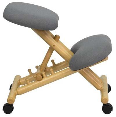Gray Flash Furniture Mobile Wooden Ergonomic Kneeling Chair
