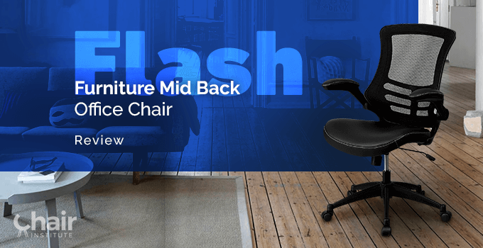 Flash Furniture Mid-Back Mesh Office Chair in a contemporary living room
