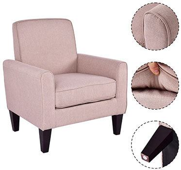 Some Features of Giantex Modern Accent Armchair