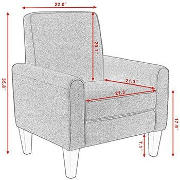 Specification of Giantex Modern Accent Armchair