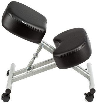 Side view of the KHALZ Kneeling Chair showing its lightweight steel frame