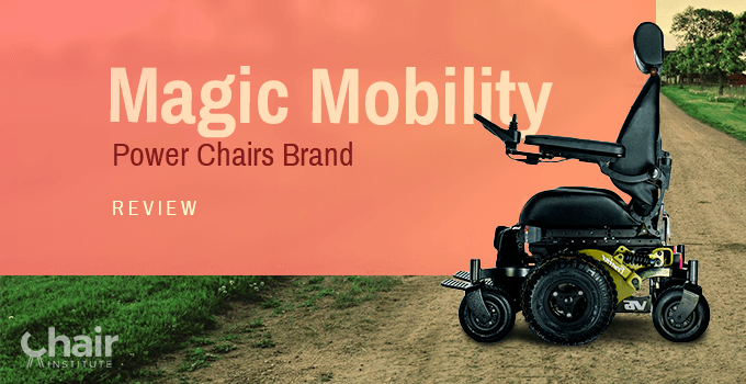 Magic Mobility Frontier V6 Power Chair in a rough road