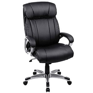 A UOBG55BK Model of SONGMICS Thick Executive Office Chair