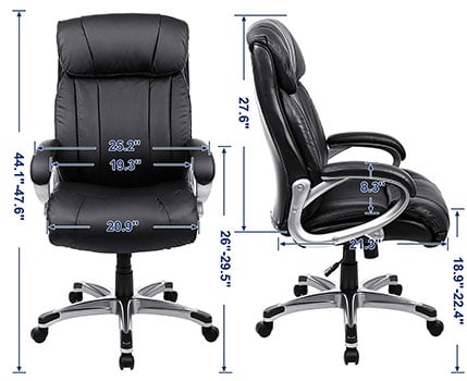 SONGMICS Executive Chair: UOBG55BK - Specifications