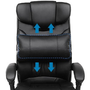 SONGMICS Thick Executive Office Chair: Adjustable Lumbar Support