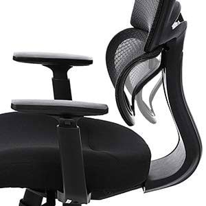 An Image of SONGMICS Executive Chair: UOBN89BK - Resilient Lumbar Support
