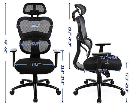 SONGMICS Executive Chair: UOBN89BK - Specifications