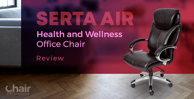 The Serta Air Health and Wellness Executive Office Chair in a living room